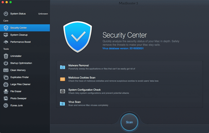 MacBooster security center